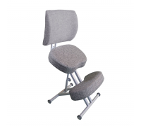 Ортопедический стул для школьника Олимп СК 2-2 Серый со спинкой
