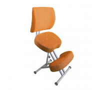 Коленный стул со спинкой Олимп СК 2-2 Терракот