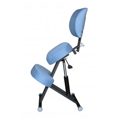 Коленный стул премиальный Олимп СК 2-2-Г газлифт Синий