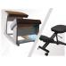 Ортопедический стул динамический для школьника Колосок деревянный