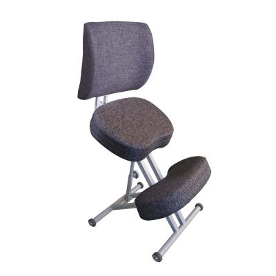 Коленный стул для осанки Олимп СК 2-2 Антрацит со спинкой