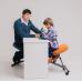 Коленный стул ортопедический Ортеко КС-03М газлифт Белый