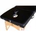 Массажный стол DFC Nirvana Relax Pro (чёрный) легкий с вырезом для лица